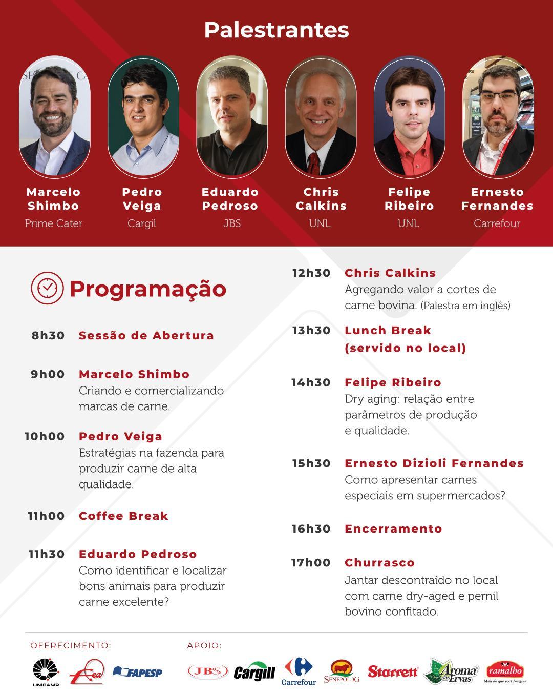 Unicamp promove 2º Workshop Brasil - EUA sobre carne de alta qualidade